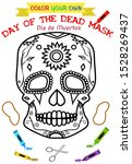 day of the dead coloring book... | Shutterstock .eps vector #1528269437