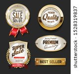 golden sale labels retro... | Shutterstock . vector #1528319837