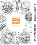 indian food illustration. hand... | Shutterstock .eps vector #1528320341