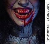 Vampire smile demon woman...