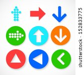 colorful arrow sign icon set....   Shutterstock .eps vector #152833775