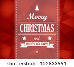 Red Crystalline Christmas Card...
