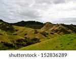 rolling hills in new zealand... | Shutterstock . vector #152836289