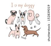 animal,art,beautiful,bone,bow,breeds of dogs,bull terrier,bull-terrier,card,cartoon,child,claw marks,collection,cute,dachshund