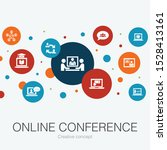 online conference trendy circle ...