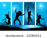 happy people reaching for the... | Shutterstock .eps vector #15284311