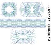 set of decorative guilloche... | Shutterstock . vector #152843549