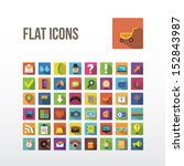 set of web icons. flat design.