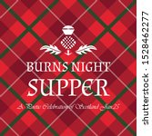 burns night supper card with...