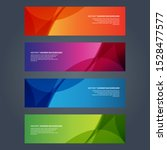 vector abstract design banner... | Shutterstock .eps vector #1528477577