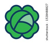 cabbage filled outline icon ... | Shutterstock .eps vector #1528488827
