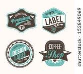 vector labels set | Shutterstock .eps vector #152849069