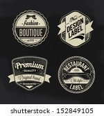 vector labels set | Shutterstock .eps vector #152849105