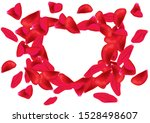 a heart shaped frame formed by... | Shutterstock .eps vector #1528498607