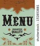 vintage vector grill   steak  ... | Shutterstock .eps vector #152853881