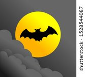 bats fly at night with a view... | Shutterstock .eps vector #1528544087