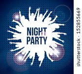 night party design over blue... | Shutterstock .eps vector #152855669