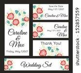 wedding set. vector file has... | Shutterstock .eps vector #152857559