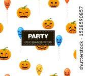 halloween seamless pattern with ... | Shutterstock .eps vector #1528590857