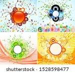 abstract spring vector... | Shutterstock .eps vector #1528598477