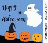 happy halloween and pumpkins... | Shutterstock . vector #1528652114