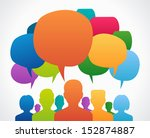 people chatting. vector... | Shutterstock .eps vector #152874887