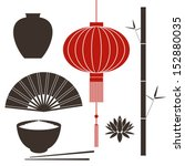 asia. china. isolated icons on... | Shutterstock .eps vector #152880035