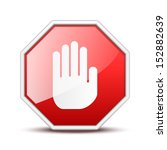 no entry hand sign | Shutterstock .eps vector #152882639