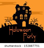 halloween card | Shutterstock .eps vector #152887751