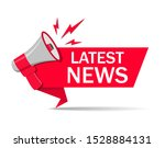 red latest news ribbon with... | Shutterstock .eps vector #1528884131