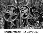 old cogs and gears from... | Shutterstock . vector #152891057