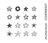 stars collection. hand drawn... | Shutterstock .eps vector #1528988507