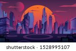 beautiful cityscape with... | Shutterstock .eps vector #1528995107