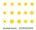 sun bright silhouette set... | Shutterstock .eps vector #1529023394