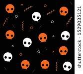 skulls background for orange...   Shutterstock .eps vector #1529035121