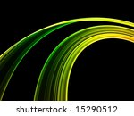Green Abstract Rainbow