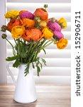 Ranunculus Flowers In A Vase...