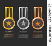 vector gold  silver  bronze... | Shutterstock .eps vector #1529099477
