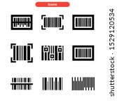 barcode icon isolated sign...   Shutterstock .eps vector #1529120534