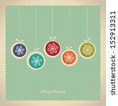 christmas card | Shutterstock .eps vector #152913311
