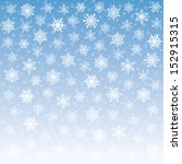 vector snowflakes falling on... | Shutterstock .eps vector #152915315