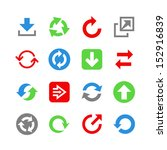 flat arrow web icons. icon set | Shutterstock .eps vector #152916839