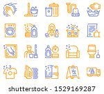 cleaning service linear icons... | Shutterstock .eps vector #1529169287