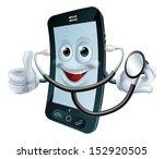 illustration of a cartoon phone ... | Shutterstock .eps vector #152920505
