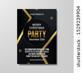 merry christmas party modern... | Shutterstock .eps vector #1529239904