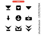 arrow down icon isolated sign...