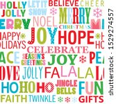 colorful christmas word... | Shutterstock .eps vector #1529274557