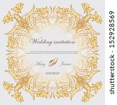 wedding invitation decorated... | Shutterstock .eps vector #152928569