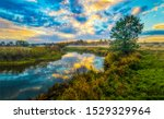 Sunset River Water Nature...