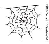 halloween monochrome spider web ...   Shutterstock .eps vector #1529348081